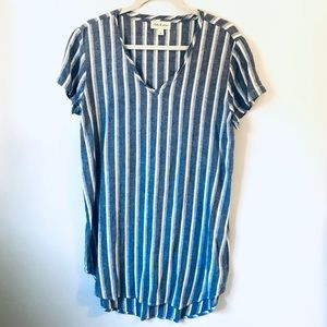 Anthropologie Cloth & Stone Striped Tunic Dress M